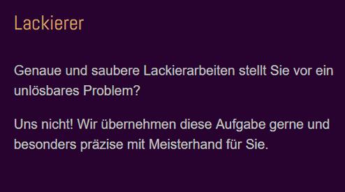 Lackierer, Lackierarbeiten in   (Kirchberg (Murr)) -