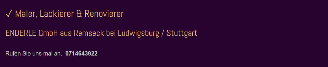 Maler Stuttgart - Enderle GmbH: Renovierungen, Dämmung, Lackierer, Malerarbeiten, Schimmelentfernung